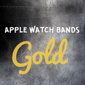 🌟GOLD Apple Watch Bands Straps Cuffs